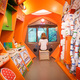 Interior Airplayship Ronald McDonald House at the Juliana's Children's Hospital, designed by Tinker imagineering. Photo credit: Fred Ernst.