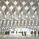 Rendering of HASSELL + Herzog & de Meuron's winning entry