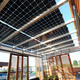 Exterior of the California Polytechnic State University, San Luis Obispo, house at the U.S. Department of Energy Solar Decathlon 2015 at the Orange County Great Park, Irvine, California (Credit: Thomas Kelsey/U.S. Department of Energy Solar Decathlon)