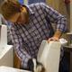 5. Alexander Morley sanding the foam mold