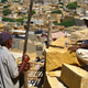 Masons rebuild Jaisalmer Fort wall using the traditional method of no mortar