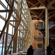 Wooden Truss in Sibelius Concert Hall in Lahti, Finland by Kimmo Lintula Architects completed in in 2000