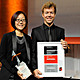 "Winners of the Holcim Awards Silver 2011 North America for ""Zero net energy school building, Los Angeles, CA"" (l-r): Gloria Lee and Nathan Swift, Swift Lee Office, Los Angeles, CA."