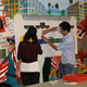 CUP: CUPs affordable housing workshops employ interactive materials like this felt chart that maps the median income of a neighborhood (Photo: Center for Urban Pedagogy)